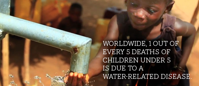 Statistics on water and its effects.